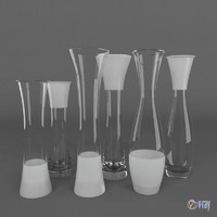 Six Glass Vases