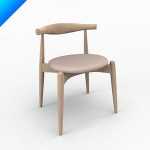 ch20 elbow chair design 3d obj