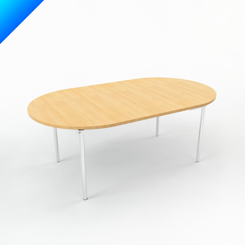 3d model ch329 table design hans wegner