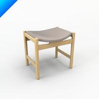 ch54 hans wegner stool 3ds