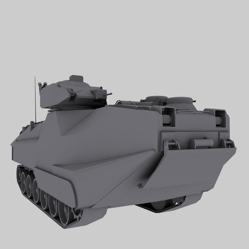 aav-7 amtruck marines 3d model