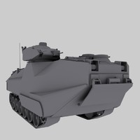 AAV-7 US Marines Amtruck Game Model
