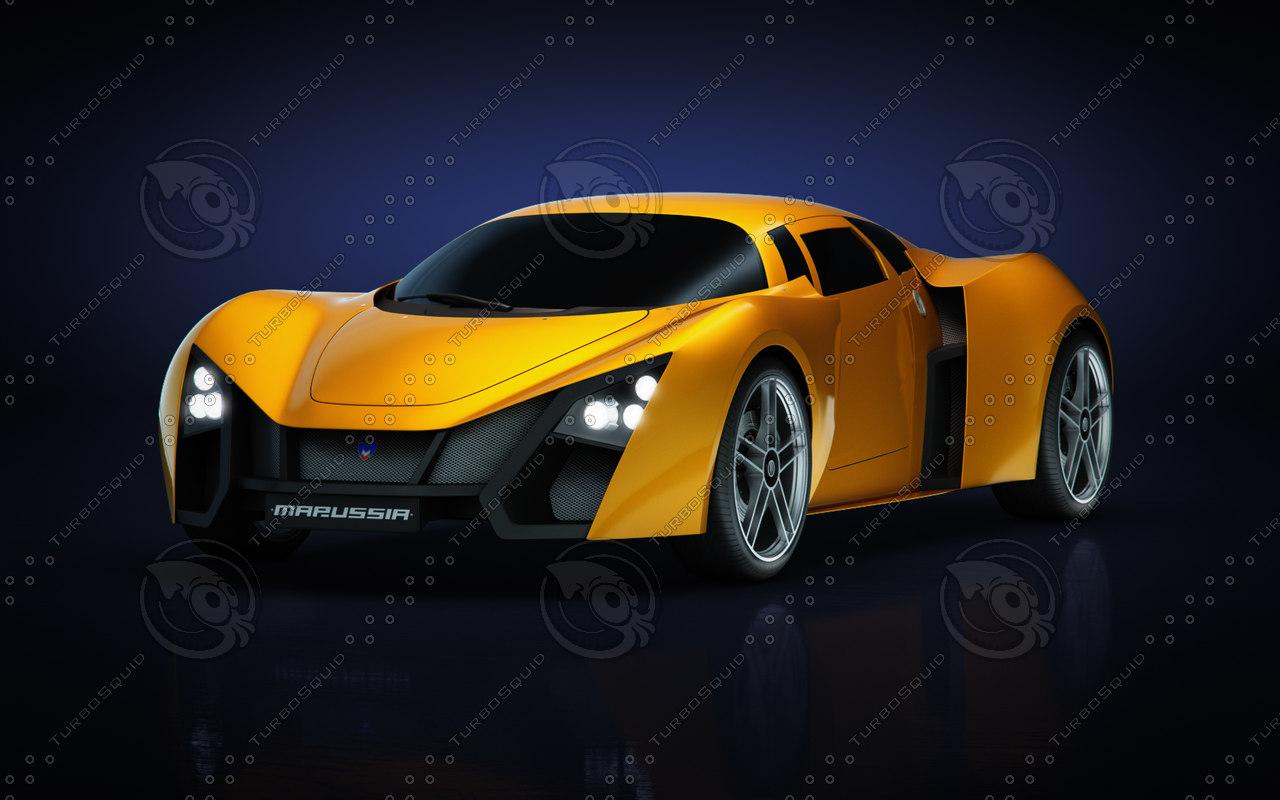 3d model of marussia b2