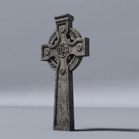 3dsmax celtic gravestone