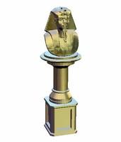 3ds pharaoh half-length column