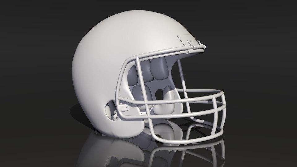 football helmet obj