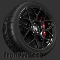 hre p40s wheel 3d model