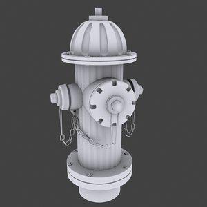 3d model water hydrant