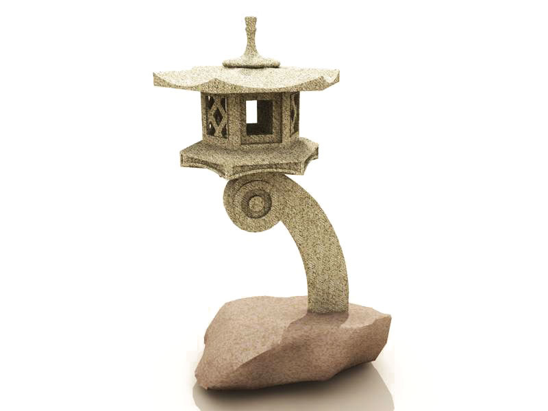 max stone japanese lantern