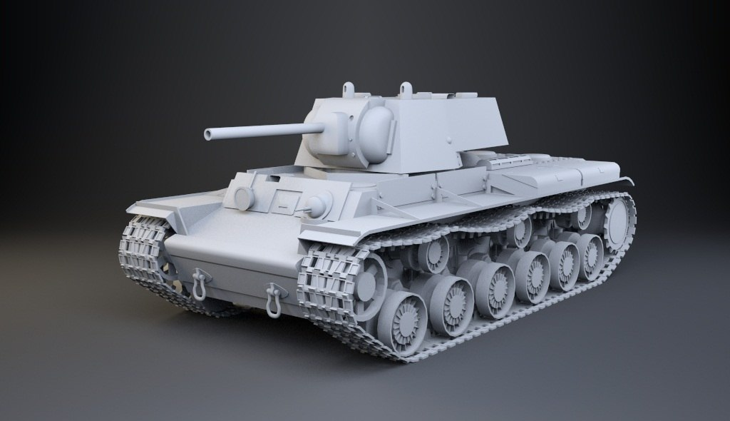 soviet kv-1 3d max