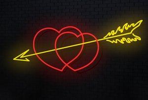 3d hearts arrow
