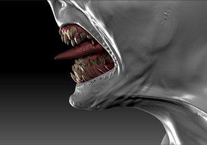 teeth monsters 3d obj