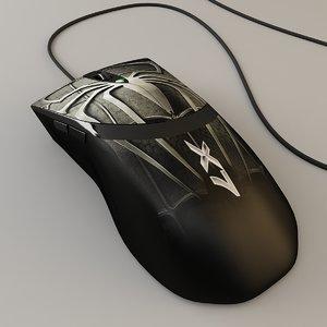 3d model laser mouse a4tech