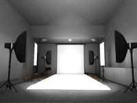 3d Photography Studio Model