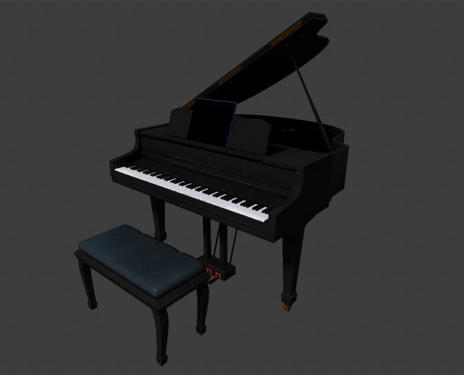 3d model piano