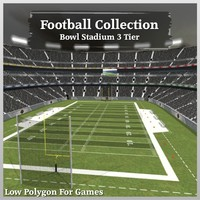 Football Collection Bowl Stadium 3 Tier V2