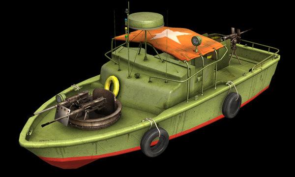 3d patrol boat river