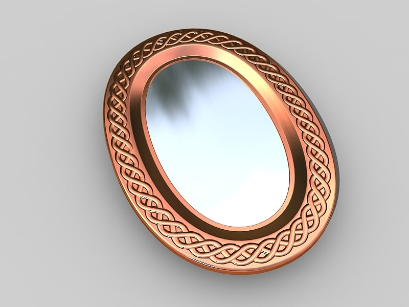 rustical copper mirror 3d model