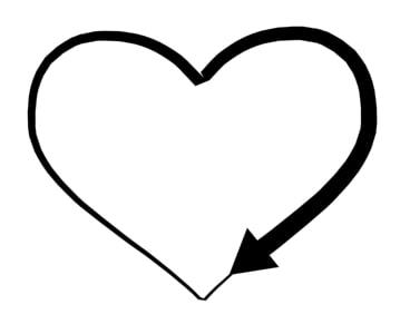 3d model heart arrow loader