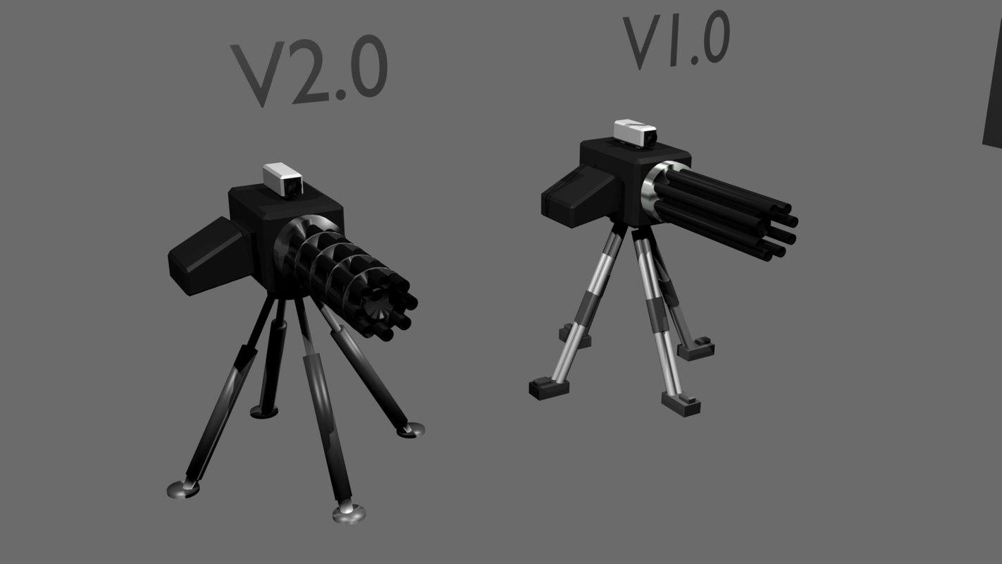 free blend model sentry gun
