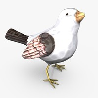 porcelain song bird statue 3d max