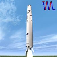 thor rocket range 3d model