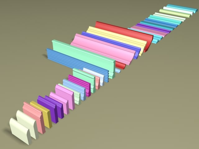 3d model of set trim moldings