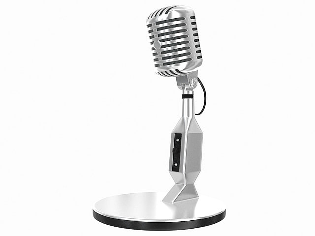 retro microphone max