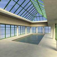 3dsmax pool exterior lights