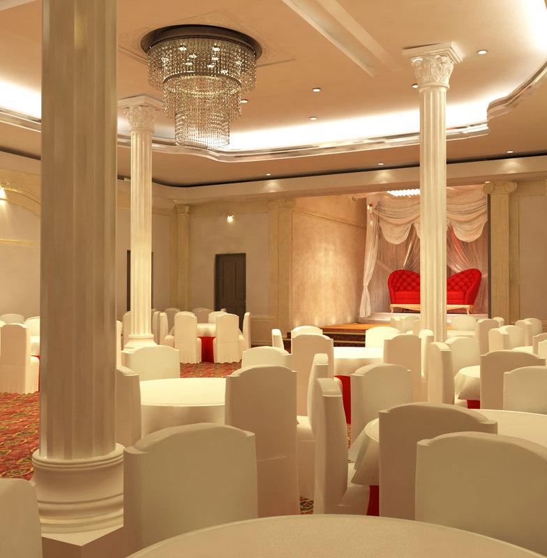 3d model wedding hall