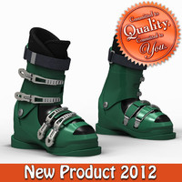 3ds max hill ski boots