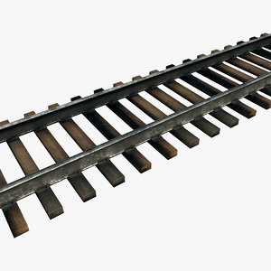 modular railroad track 3d obj