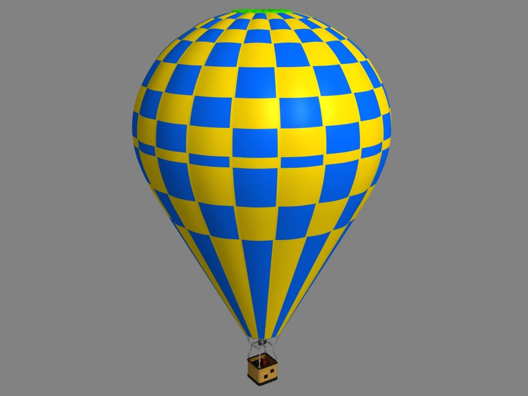 3d model of air balloon