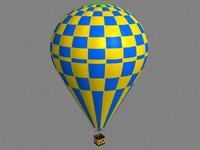 3d model of air balloon