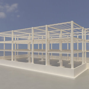 3d structure building factory model