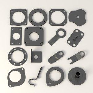 3d model parts