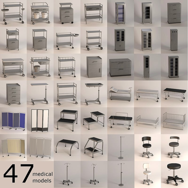 hospital furniture 3d model