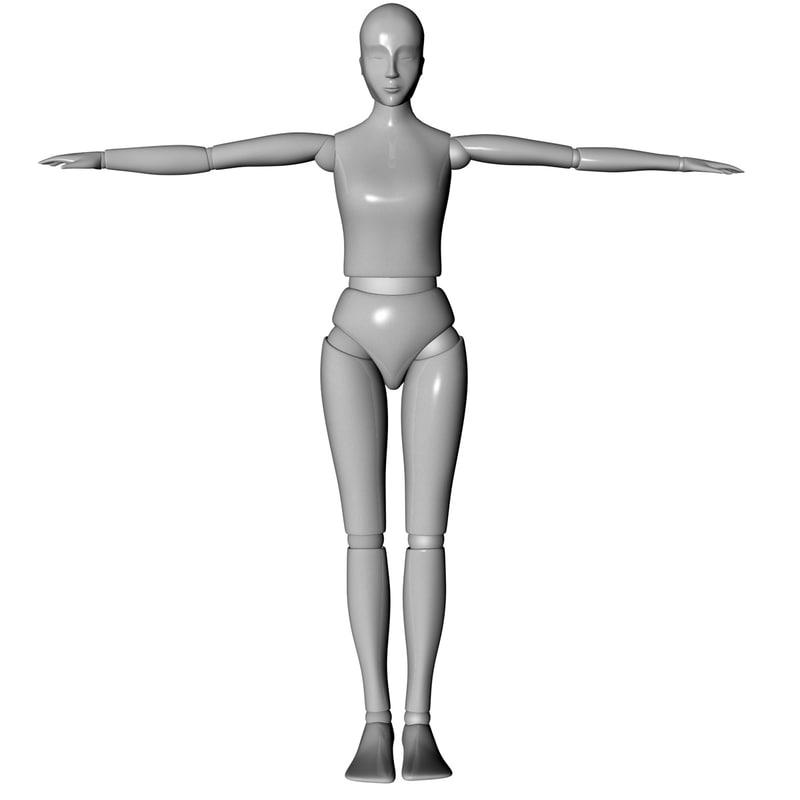 obj female mannequin