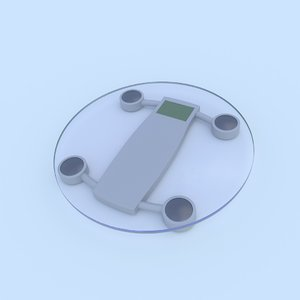 electronic scales 3d model