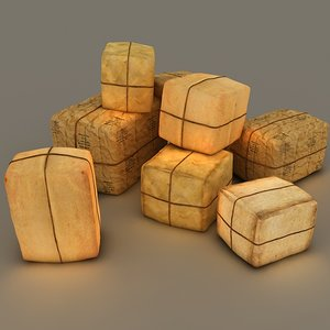 old post packages 3d model