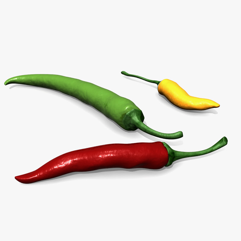 max capsicum pepper chili modeled