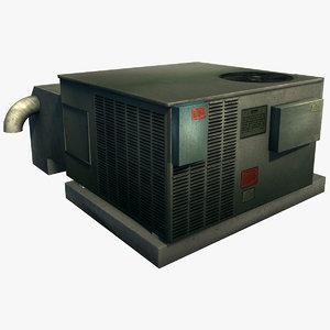 roof air unit 3d max