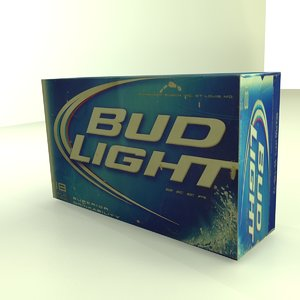 beer box bud 3d max