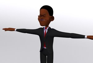 3d president character