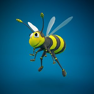 3d bee rigged model