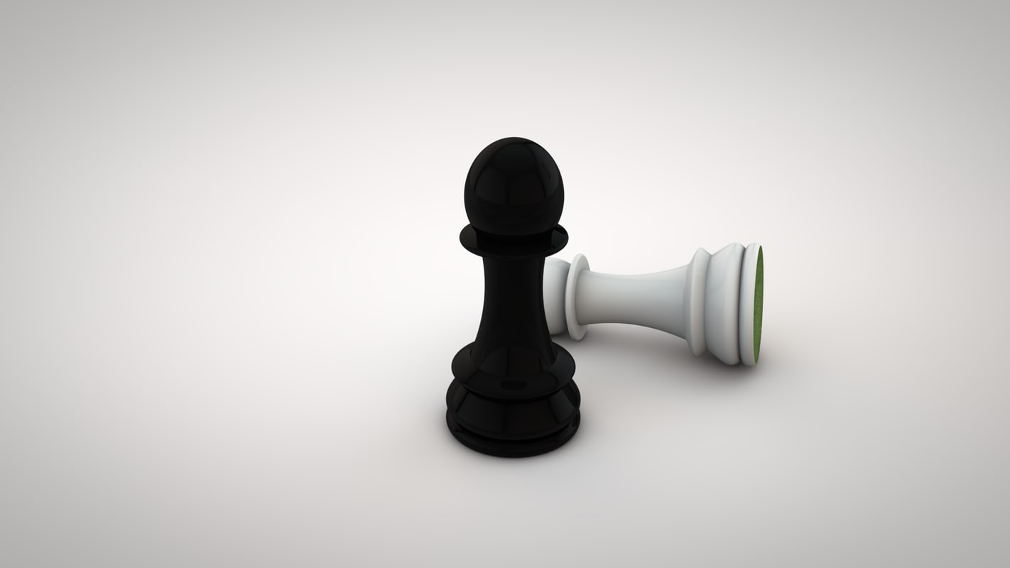 3d model chess pawn