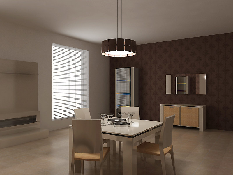 3d 3ds dining room set furniture table