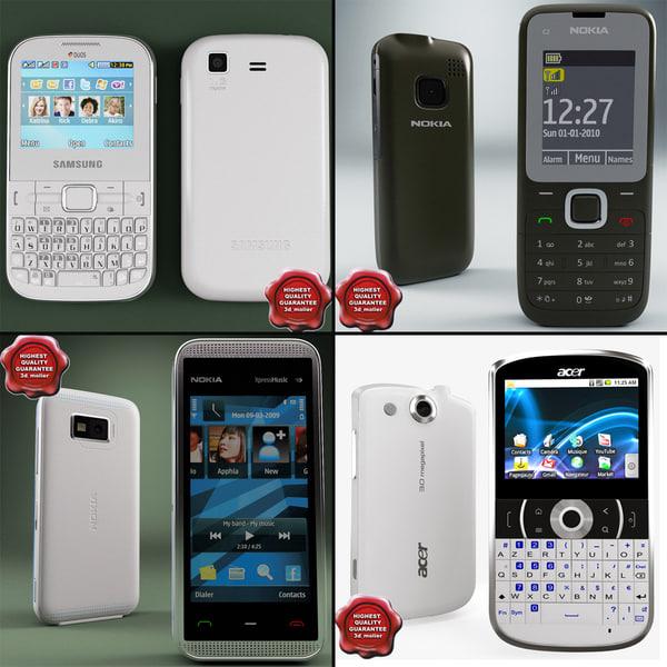 3d model of cellphones v19