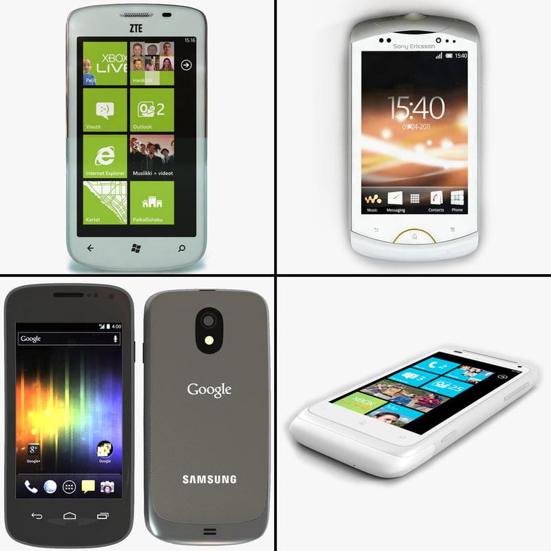 3d model cellphones v2