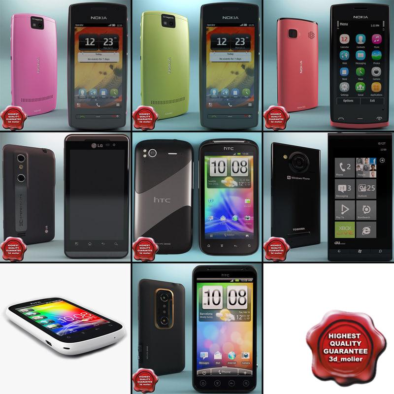cellphones 45 3d max